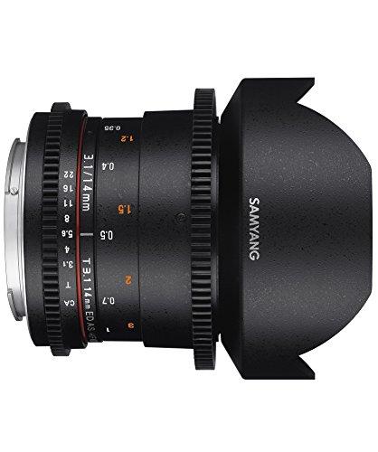 Samyang 14 mm T3.1 VDSLR II Manual Focus Video Lens for Canon DSLR Camera