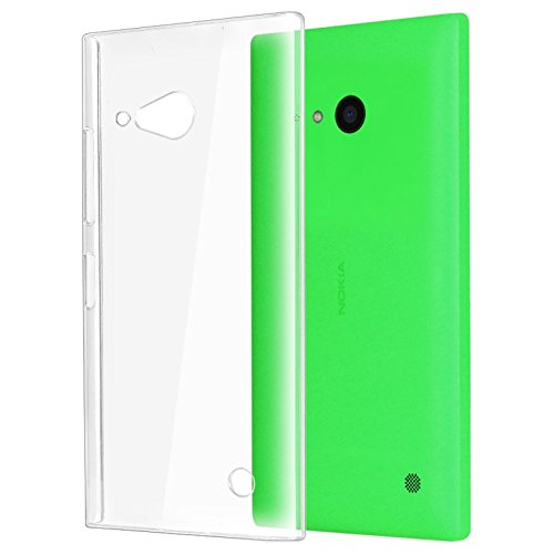 RKA Crystal Clear Transparent Hard Back Case Cover for Nokia Lumia 730