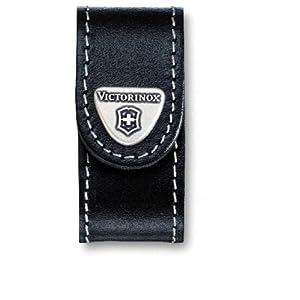 41Wmj CCg5L. SS300  - Victorinox V4.0518 4.0518.XL Jumbo Belt Pouch for Swissflash/Minichamp of Leather, Black, 7 cm
