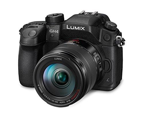 Panasonic LUMIX G DMC-GH4MEG-K Systemkamera (16 Megapixel, OLED Touchscreen, Staub-/Spritzwasserschutz, Utraschneller Autofokus) mit Objektiv H-FS12060E schwarz