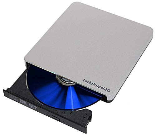 techPulse USB 3.0 DVD externa Unidad Lector Slim Escritor Portátil Quemador DVD CD ODD Superdrive Rom Compatible para portátil, netbook y escritorio Apple MacBook Pro Air Win 7 8 10 Windows MacOS