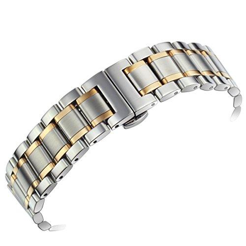 deluxe-solido-tono-argento-larga-due-24mm-uomini-e-braccialetti-di-rosa-della-vigilanza-dellacciaio-