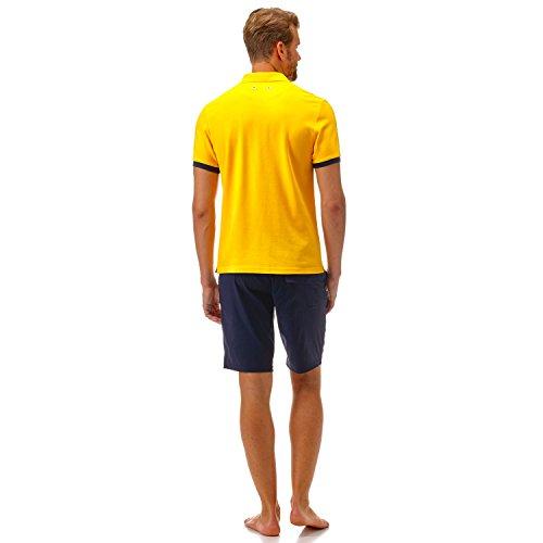 Vilebrequin - Einfarbiges, langärmliges Polohemd aus Baumwollpikee - Jungen Curcuma