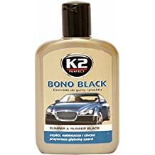 K2 - Coche bono negro bumper y cuidado de goma, marco y plástico, restaurador