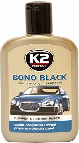 K2 Auto Reifenpflege, Gummipflege, Kunststoffpflege, mit schwarzer Farbe 200ml