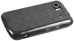 mumbi silicone Coque HTC 7 Mozart - Housse Windows Phone 7 skin Etui Case Protecteur Noir étui transparente