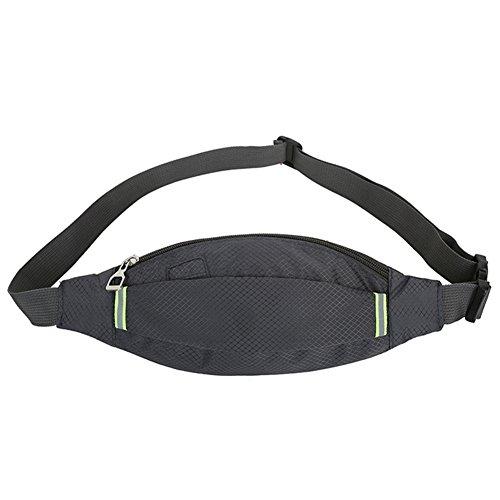 Reefa Unisex Diamant-förmigen Sommer Running Sport Multifunktionale Taille Tasche Dunkelgrau