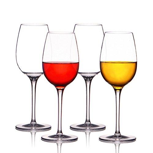Weingläser plastik ThreeCat unzerbrechliche weingläser 100% Tritan Bruchsicher weinglas aus kunststoff Transparent wie echtes Gläser BPA-frei,12.5OZ (355ml),4er Set (Kunststoff-wein-gläser)