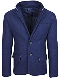 Amazon.it  Giacca Di Lana - Blu   Giacche   Giacche e cappotti ... 2566f584a3b