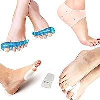 Foot Protector Kit/Heel Support Protectors Gel Heel Socks Sleeve Pads/Toe Separators Bunion Relief Silicone Shield... preisvergleich bei billige-tabletten.eu