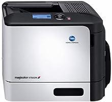 Konica Minolta Magicolor 4750EN - Impresora láser (30 ppm, 600 x 600 DPI, pantalla LCD), blanco