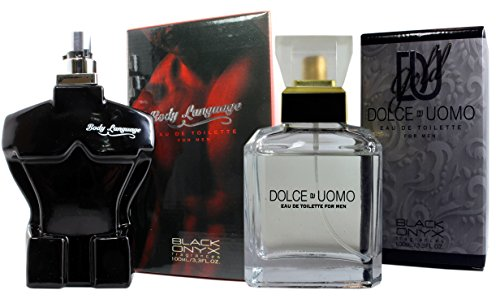 Parfums Pack Tag und Nacht für Herren. Dolce Uomo 100ml + Body Language Red 100ml. Zwei Geschenke zum Preis von einem.