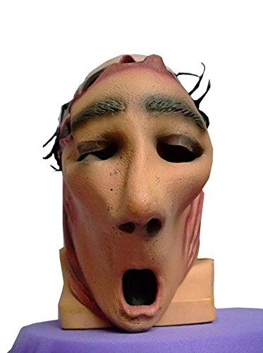Nihiug Halloween Halloween Alien Skull Latex Scary Horror Cap Schaum Kopf Prop Latex Gruselig Scary Halloween Toothy Zombie Ghost Maske,A