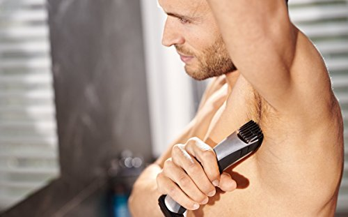 Philips BodyGroom TT2040/32 - Afeitadora corporal inalámbrica, con dos cabezales de recorte y afeitado
