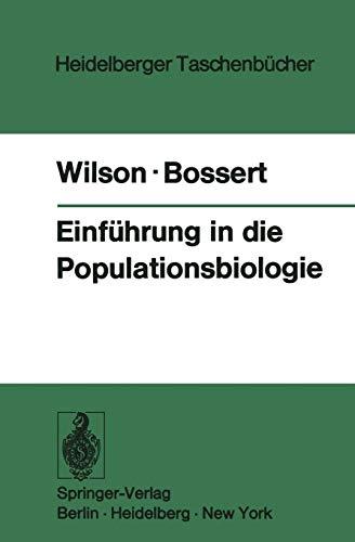 Einführung in die Populationsbiologie (Heidelberger Taschenbücher (133), Band 133)