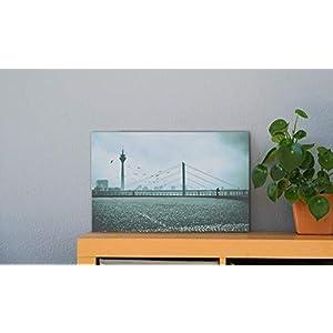 Düsseldorf Rheinterrassen Fernsehturm Leinwand Druck Fotografie 30 x 40 cm Kunst Fotografie Wanddeko Wandbild