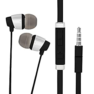 In-Ear Headphone For Sony Xperia Z3+ In- Ear Headphone   Earphones   Headphone  Handsfree   Headset   Universal Headphone   Wired   MIC   Music   3.5mm Jack   Calling Function   Earbuds   Microphone  Bass Bost Sound   Flat Wired Earphone  Original Earphone like Performance Best High Quality Sound Earphones Compatible With All Andriod Smartphone, MP3 Players, Mobile, Laptops DX800- Black