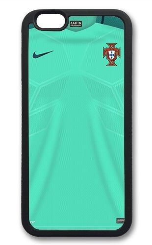 Coque silicone BUMPER souple IPHONE 6/6s PLUS - EURO 2016 football maillot drapeaux portugal CASE tpu DESIGN + Film de protection INCLUS 2