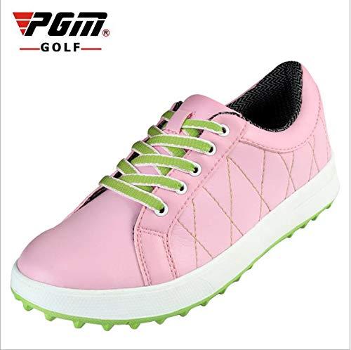 Frauen-golf-schuhe (HWTP 2019 Counter echte pgm Damen Golf Schuhe Sportschuhe Frauen Keine Spikes atmungsaktiv wasserdicht für weibliche Stiefel,Pink,ShoeSize6.5)