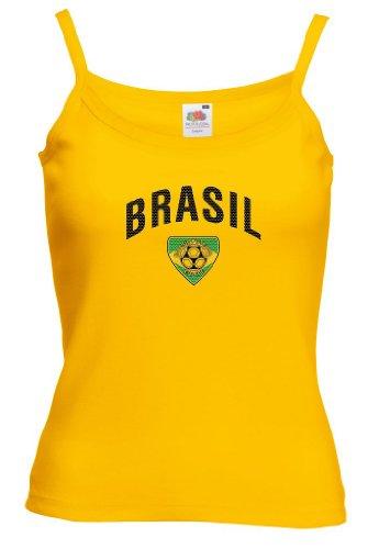 Fruit of the Loom Brasilien Damen T-Shirt Team Lady Fit Strap|S
