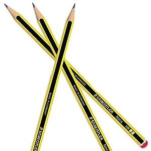 Staedtler Noris-Lápiz, 12unidades, color negro y amarillo 1 – Pack