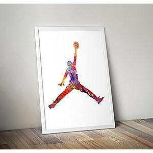 Jordan Symbol, Sprungmann, Drake Poster, Druck A2 8.3 x 11.7 Zoll
