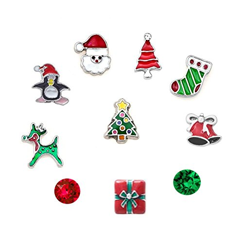 uniqueen-christmas-tree-reindeer-santa-clause-floating-charms-set-for-glass-living-locket