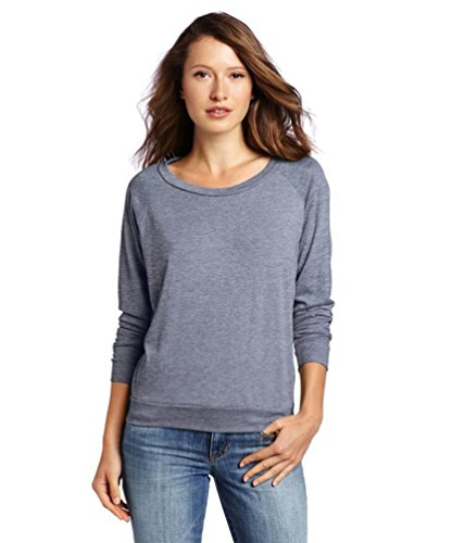 YouPue Femmes Manches Longues T-shirt Rond Col Pullover Tricot Pull-over En Vrac Blouse T-shirt Tops Taille S-XL Bule Gris