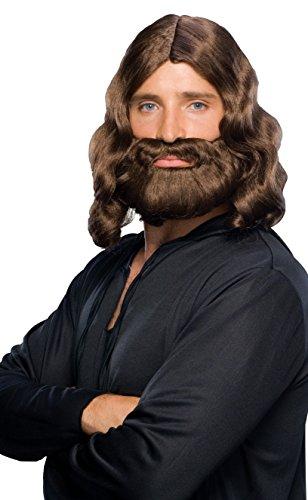Rubies Kost-me biblischen - Braun - Per-cke und Bart One Size