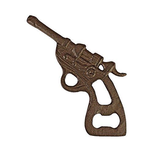 Design Toscano Revolver, Flaschenöffner aus Eisenguss (Revolver Flaschenöffner)