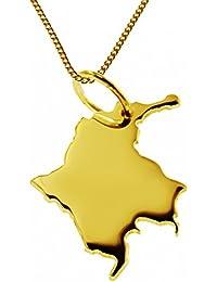 98ef1bf90fbe 50 cm Collar + Colombia colgante 585 oro
