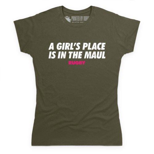 Maul T-Shirt, Damen Olivgrn