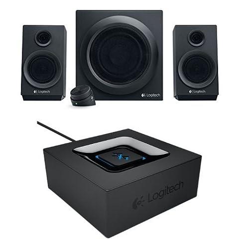 Logitech Z333 Système d'enceintes multimédia Noir + Logitech Adaptateur Audio bluetooth