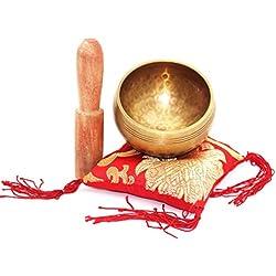 Wishing Cuenco Tibetano a Mano para la Meditación Chakra Healing, Oración, Yoga, Budismo y Sanación a través de la Vibración Cuenco,