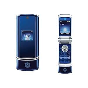 MOTOROLA Téléphone portable KRZR K1 Version FULL (carte mémoire incluse) Bleu