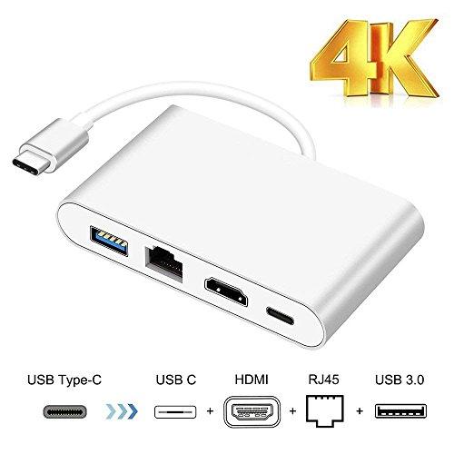 28 - Adaptador USB C a HDMI, HuiHeng Tipo C a HDMI Digital Adaptador de video para Macbook Google Chromebook Samsung S8 / S8 plus, Plug & Play