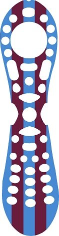 west-ham-colours-remote-control-vinyl-skin-wrap-to-fit-virgin-tivo-by-ellis-graphix