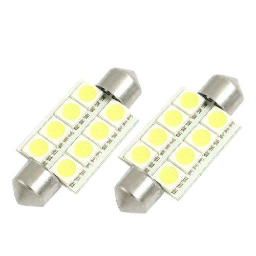 sourcingmap-2-Pz-Bianco-38mm-5050-8-SMD-Interno-Cupola-Mappa-Festoni-LED-Lampadina
