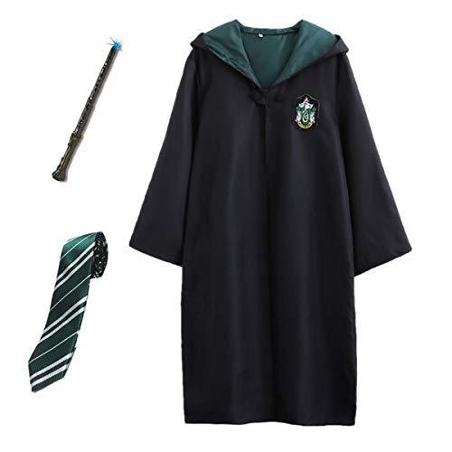Kostüm Cosplay Quidditch - Kosplay Kostüm Umhang Kinder Erwachsene Cosplay Gryffindor Slytherin Ravenclaw Hufflepuff Zauberstab Krawatte Schal Brille Karneval Verkleidung Fasching Halloween
