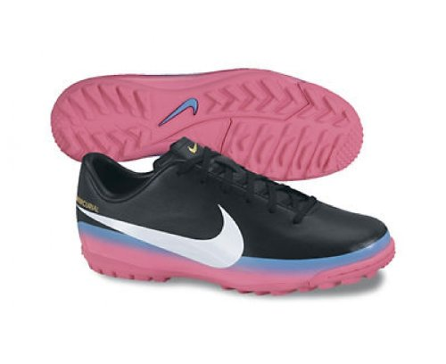 Chaussures de Foot Mercurial Victory III CR7 TF pour Enfants Noir/Bleu/Rose - 5.5