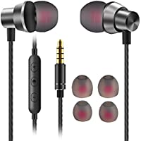 Earphones,JUKSTG Noise Isolating In-Ear Headphones with Pure Sound and Powerful Bass, Earbuds With High Sensitivity Microphone and Volume Control, Headphones for iPhone, iPod, iPad, MP3, Samsung,etc
