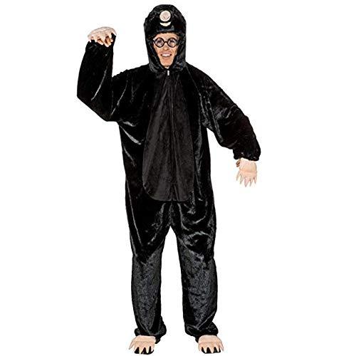 Maulwurf Kostüm - Kostüm Maulwurf Overall S/M schwarz Tierkostüm Mottoparty Garten Fasching
