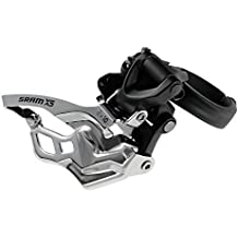 SRAM X5 Bicycle Front Derailleur with 2 x 10 High-Clamp 318/349 Black Top Pull by Cyclone Bicycle