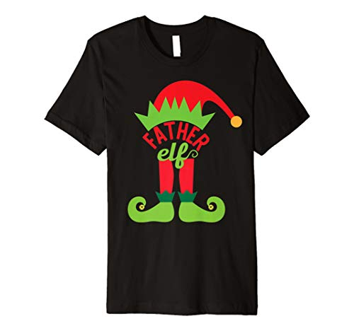 (Funny Father Elf T-Shirt Christmas Elf Dad)