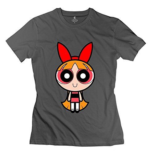 Kst Damen-Blossom Power Puff Mädchen T-Shirt O Hals Retro Gr. X-Small,  - DeepHeather (Powerpuff Girls Halloween)