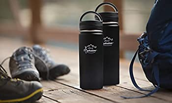 Stainless Steel Water Bottle - Thermo Flask Water Bottle - Hydration Bottle Eco Friendly - M&h Hydration Leak-proof, | Bpa-free Stainless Steel | Reusable Water Bottle | Double Walled Vacuum Insulated | Sistema - Keeps Drinks Cold For 18+ Hrs, Hot For 8 - Hiking, Running, Outdoors Water Bottle (32oz - 909ml) 4