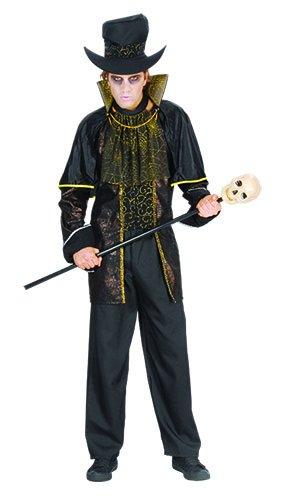 Erwachsene Männer Halloween Count Twilight Kostüm Onesize (Onesize passt alle, Schwarz)