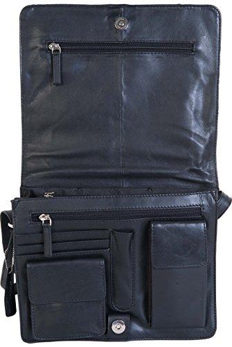 Tracolla Visconti In 5 Colorazioni Di Pelle Misura Medium Modello TESS 754 Noir