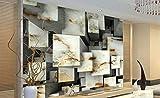 HUANG YA HUI Wallpaper Fototapeten 3D Wallpaper Mural 3D Vintage Geprägte Stein Ziegelstein Effekt Tapete Für Schlafzimmer Wohnzimmer Tv Hintergrund Wohnkultur