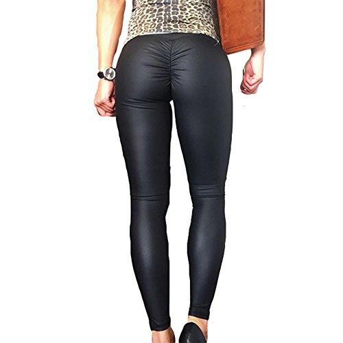 Leggings Mujer cintura alta Pantalones deportivos Pantalones elásticos Yoga Medias push up Pantalones de correr Leggins 4 Colores S-XL Hibote
